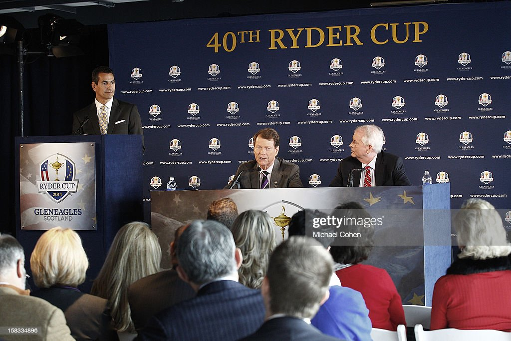 A general view during the 2014 U.S. Ryder Cup Captain's News Conference held at the Empire State Building on December 13, 2012 in New York City.