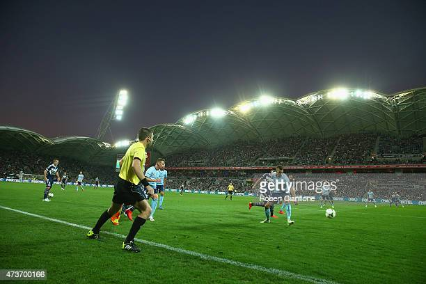 A general view during the 2015 ALeague Grand Final match between the Melbourne Victory and Sydney FC at AAMI Park on May 17 2015 in Melbourne...