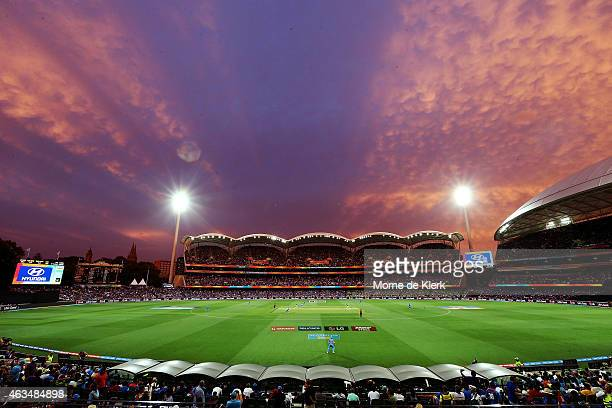 A general view during the 2015 ICC Cricket World Cup match between India and Pakistan at Adelaide Oval on February 15 2015 in Adelaide Australia