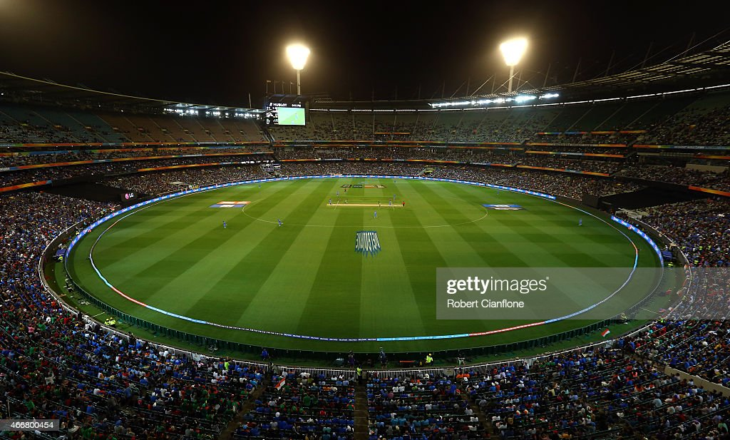 A general view during the 2015 ICC Cricket World Cup match between India and Bangldesh at Melbourne Cricket Ground on March 19 2015 in Melbourne...
