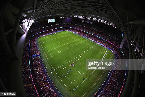 General view during the 2015 Rugby World Cup Pool A match between Wales and Uruguay at Millennium Stadium on September 20 2015 in Cardiff United...