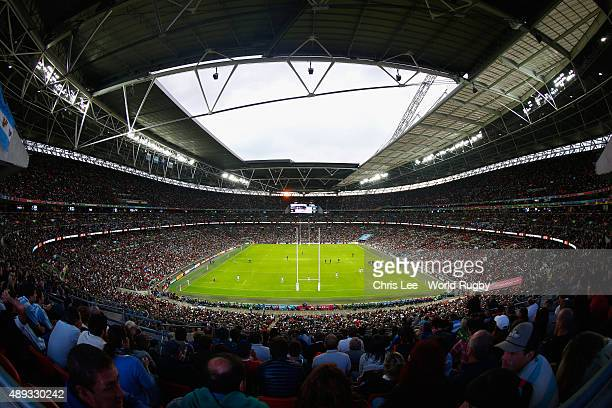 A general view during the 2015 Rugby World Cup Pool C match between New Zealand and Argentina at Wembley Stadium on September 20 2015 in London...
