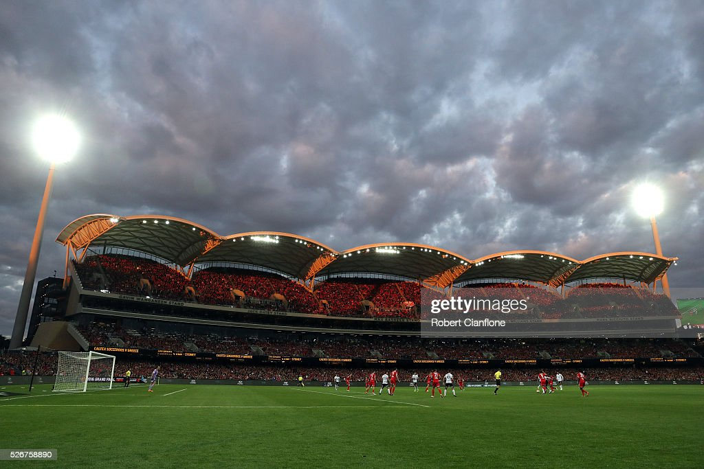 A general view during the 2015/16 A-League Grand Final match between Adelaide United and the Western Sydney Wanderers at Adelaide Oval on May 1, 2016 in Adelaide, Australia.