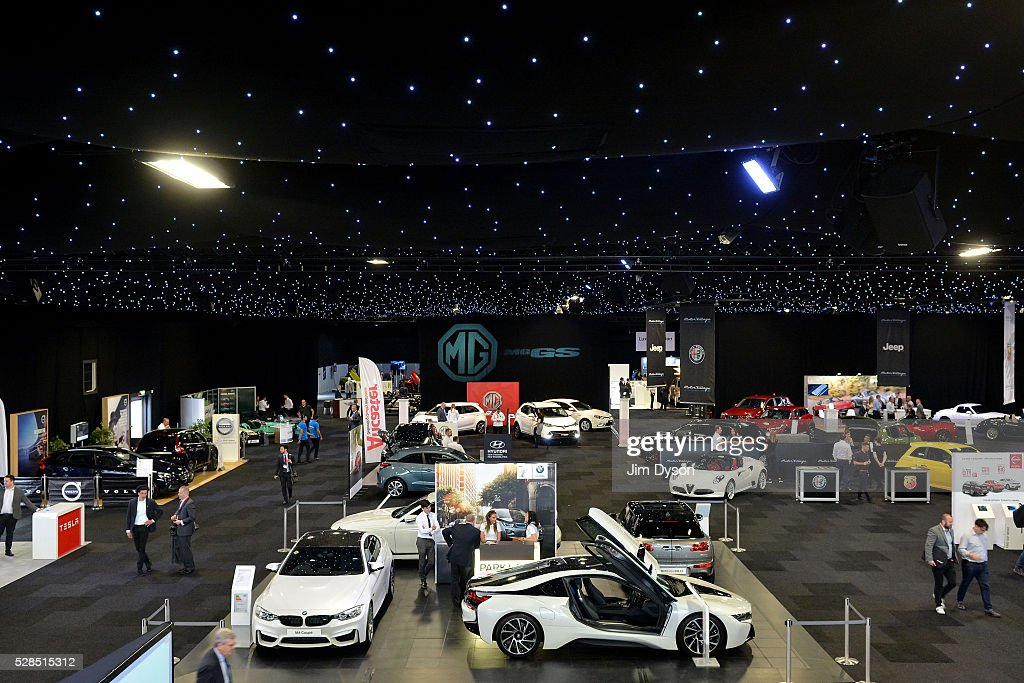 A general view during the 2016 London Motor Show at Battersea Evolution Marquee on May 5, 2016 in London, England. The show, returning for the first time in eight years, will run from 6-8 May.