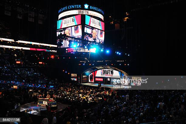 A general view during the 2016 NBA Draft on June 23 2016 at Barclays Center in Brooklyn New York NOTE TO USER User expressly acknowledges and agrees...