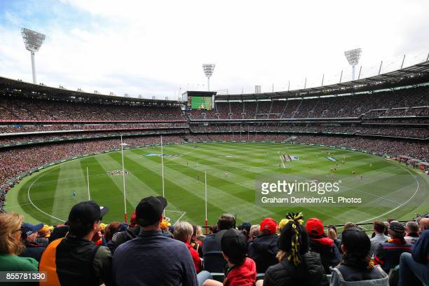 A general view during the 2017 AFL Grand Final match between the Adelaide Crows and the Richmond Tigers at Melbourne Cricket Ground on September 30...