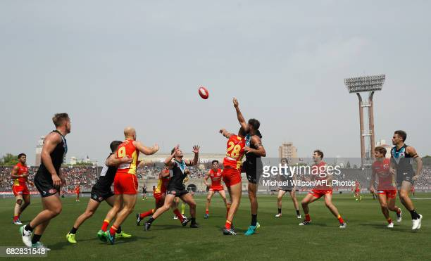 A general view during the 2017 AFL round 08 match between the Gold Coast Suns and Port Adelaide Power at Jiangwan Sports Stadium on May 14 2017 in...