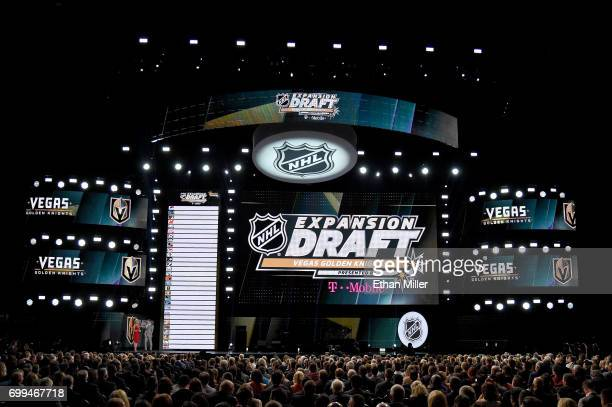 A general view during the 2017 NHL Awards and Expansion Draft at TMobile Arena on June 21 2017 in Las Vegas Nevada
