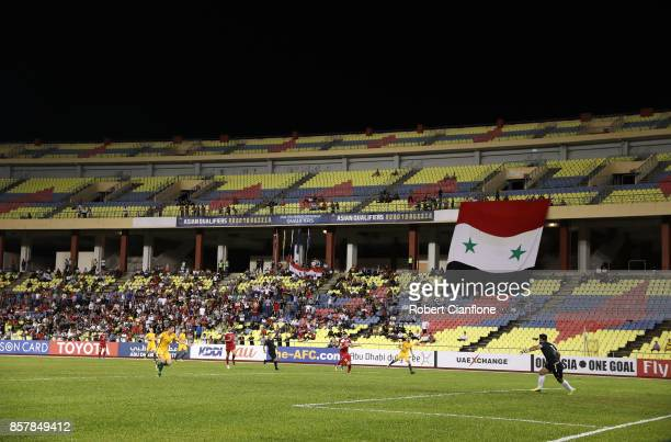 A general view during the 2018 FIFA World Cup Asian Playoff match between Syria and the Australia Socceroos at Hang Jebat Stadium on October 5 2017...