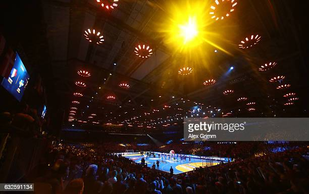 A general view during the 25th IHF Men's World Championship 2017 Quarter Final match between France and Sweden at Stade Pierre Mauroy on January 24...