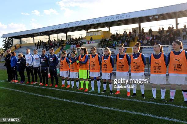 General view during the 2nd Female Tournament 'Delle Nazioni' final match between Italy U16 and USA U16 on April 29 2017 in Gradisca d'Isonzo Italy