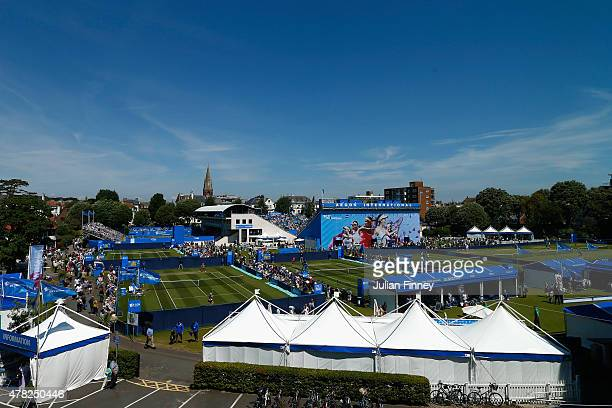 A general view during the Aegon International day four at Devonshire Park on June 24 2015 in Eastbourne England