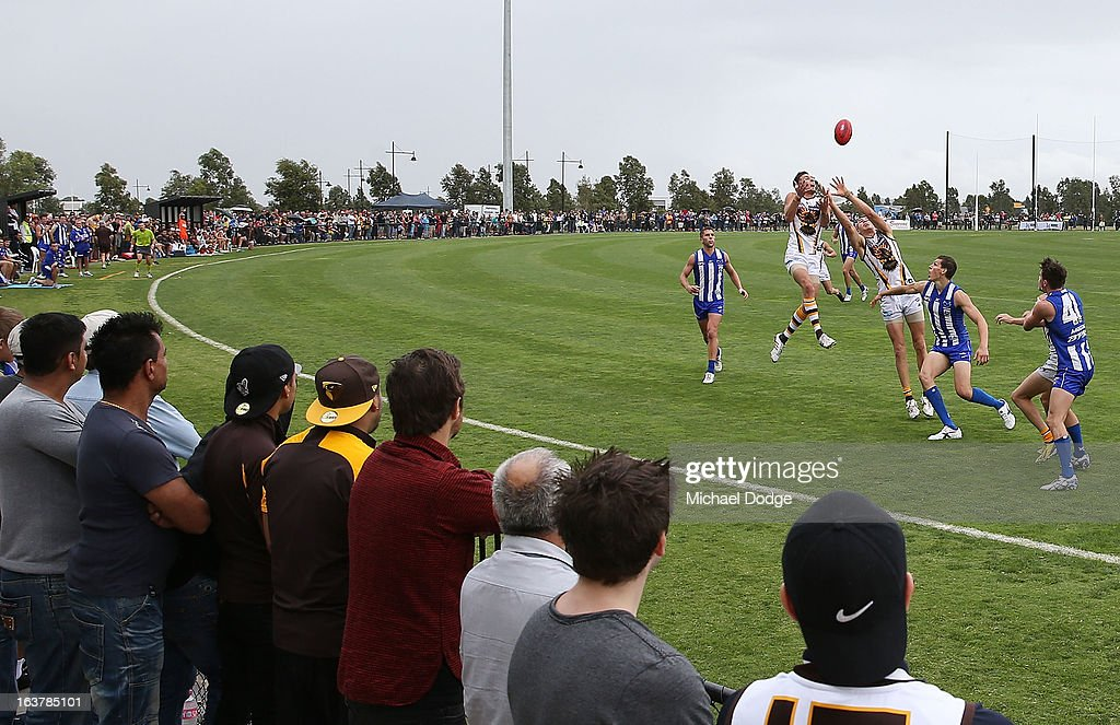 A general view during the AFL NAB Cup match between the North Melbourne Kangaroos and the Hawthorn Hawks at Highgate Recreational Reserve on March 16, 2013 in Craigieburn, Australia.