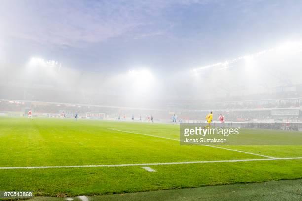 General View during the allsvenskan match between Kalmar FF and Djurgarden IF at Guldfageln Arena on November 5 2017 in Kalmar Sweden