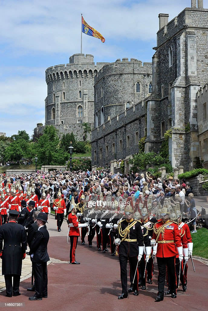 A general view during the annual Order of the Garter Service at St George's Chapel, Windsor Castle on June 18, 2011 in Windsor, England. The Order of the Garter is the senior and oldest British Order of Chivalry, founded by Edward III in 1348. Membership in the order is limited to the sovereign, the Prince of Wales, and no more than twenty-four members.