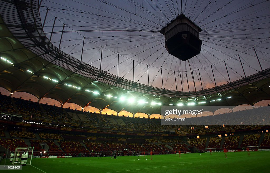 A general view during the Athletic Bilbao training session ahead of the UEFA Europa League Final between Atletico Madrid and Athletic Bilbao at the National Arena on May 8, 2012 in Bucharest, Romania.