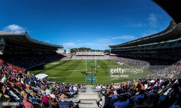 A general view during the Auckland Nines at Eden Park on February 4 2017 in Auckland New Zealand
