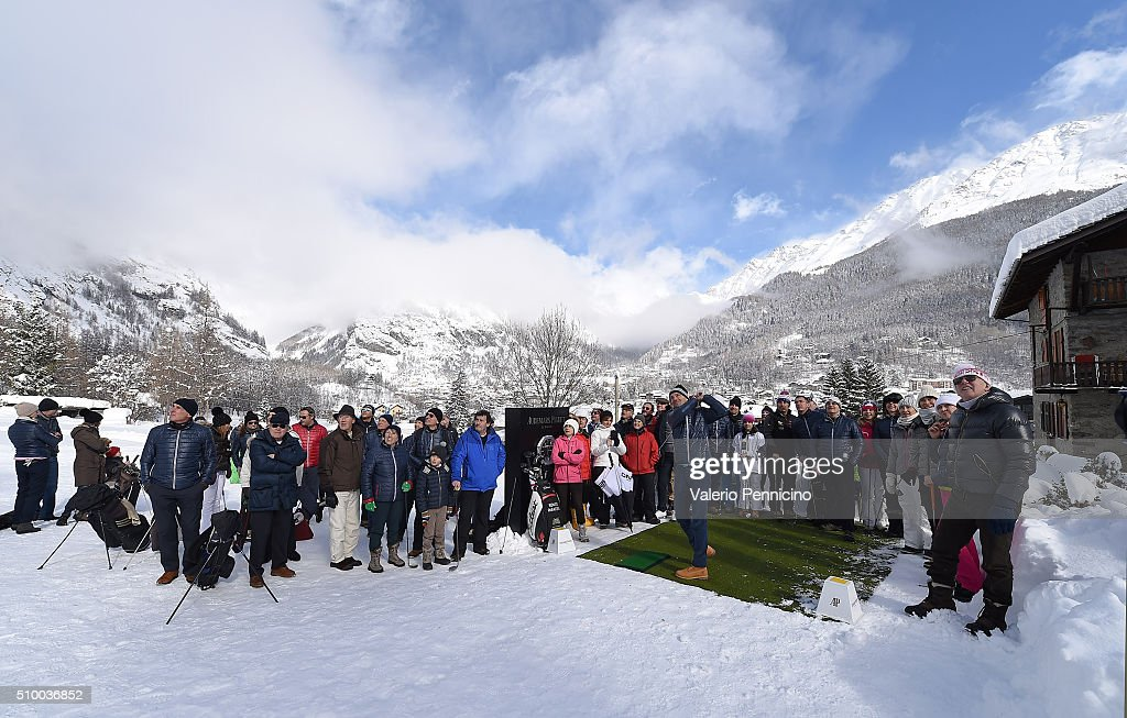 A general view during the Audemars Piguet Snow Golf Exhibition 2016 on February 13, 2016 in Courmayeur, Italy.