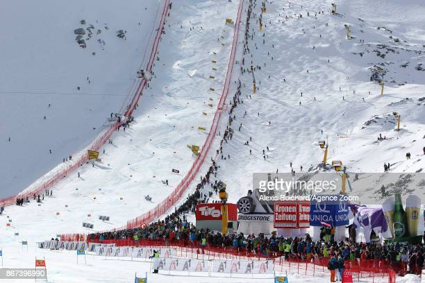 A general view during the Audi FIS Alpine Ski World Cup Women's Giant Slalom on October 28 2017 in Soelden Austria