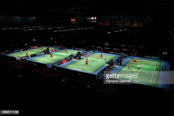 A general view during the Australian Badminton Open at Sydney Olympic Park on June 22 2017 in Sydney Australia