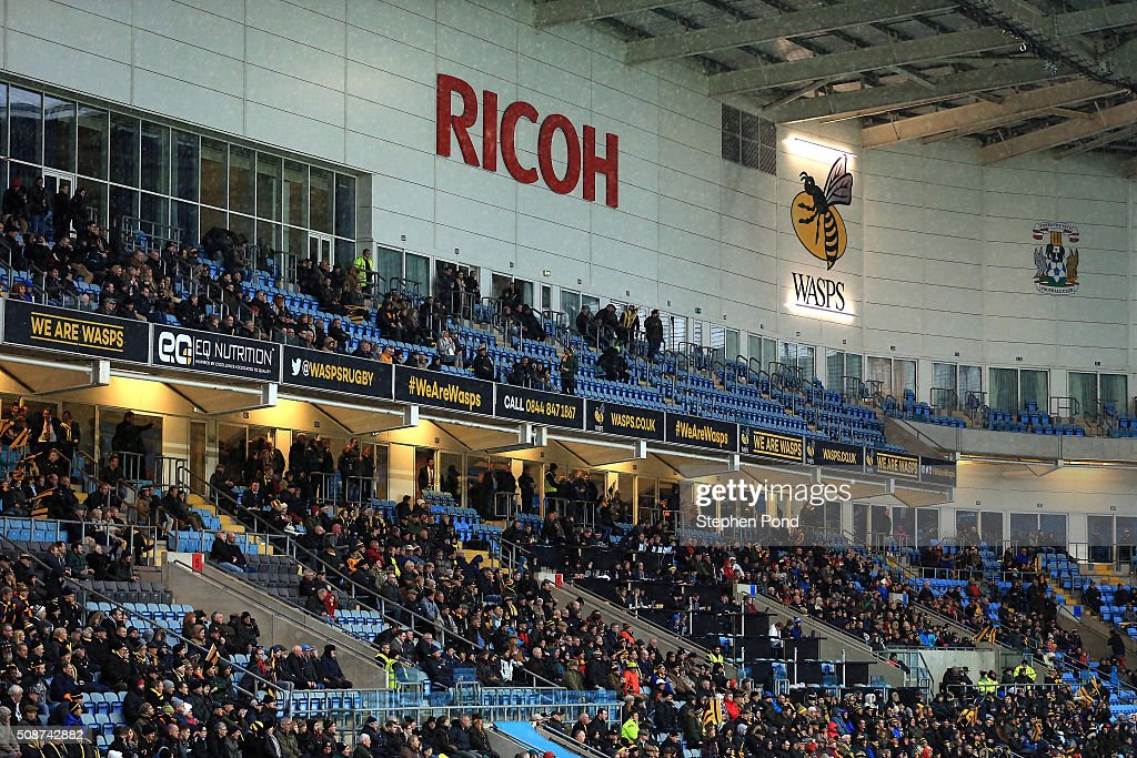 A general view during the Aviva Premiership match between Wasps and Newcastle Falcons at the Ricoh Arena on February 6, 2016 in Coventry, England.