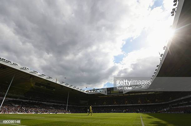 A general view during the Barclays Premier League match between Tottenham Hotspur and Manchester City at White Hart Lane on September 26 2015 in...