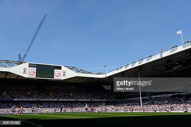 A general view during the Barclays Premier League match between Tottenham Hotspur and Southampton at White Hart Lane on May 8 2016 in London England