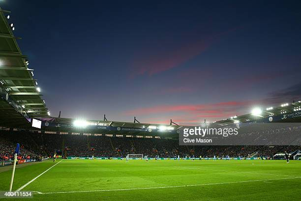A general view during the Barclays Premier League match between Leicester City and Manchester City at The King Power Stadium on December 13 2014 in...