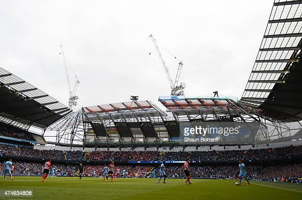 A general view during the Barclays Premier League match between Manchester City and Southampton at Etihad Stadium on May 24 2015 in Manchester England