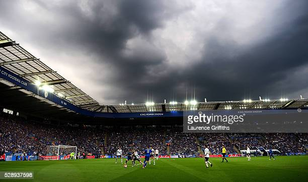 A general view during the Barclays Premier League match between Leicester City and Everton at The King Power Stadium on May 7 2016 in Leicester...