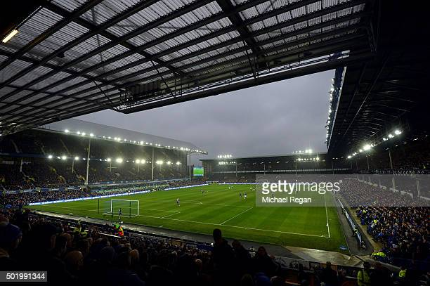 A general view during the Barclays Premier League match between Everton and Leicester City at Goodison Park on December 19 2015 in Liverpool England