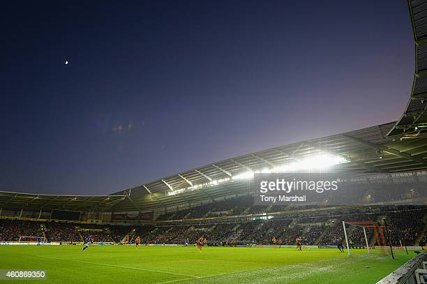 A general view during the Barclays Premier League match between Hull City and Leicester City at KC Stadium on December 28 2014 in Hull England