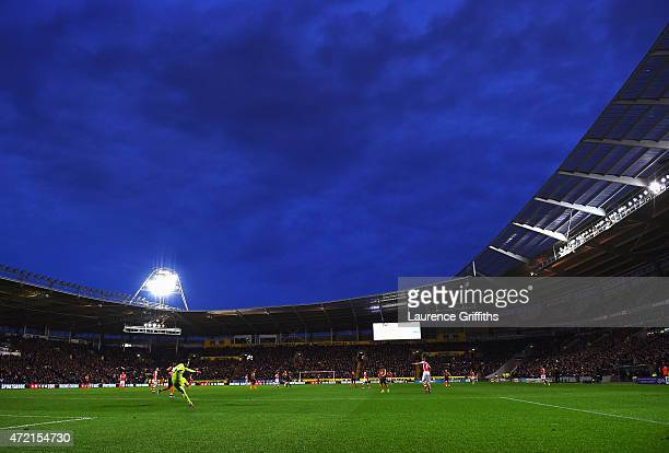 A general view during the Barclays Premier League match between Hull City and Arsenal at KC Stadium on May 4 2015 in Hull England