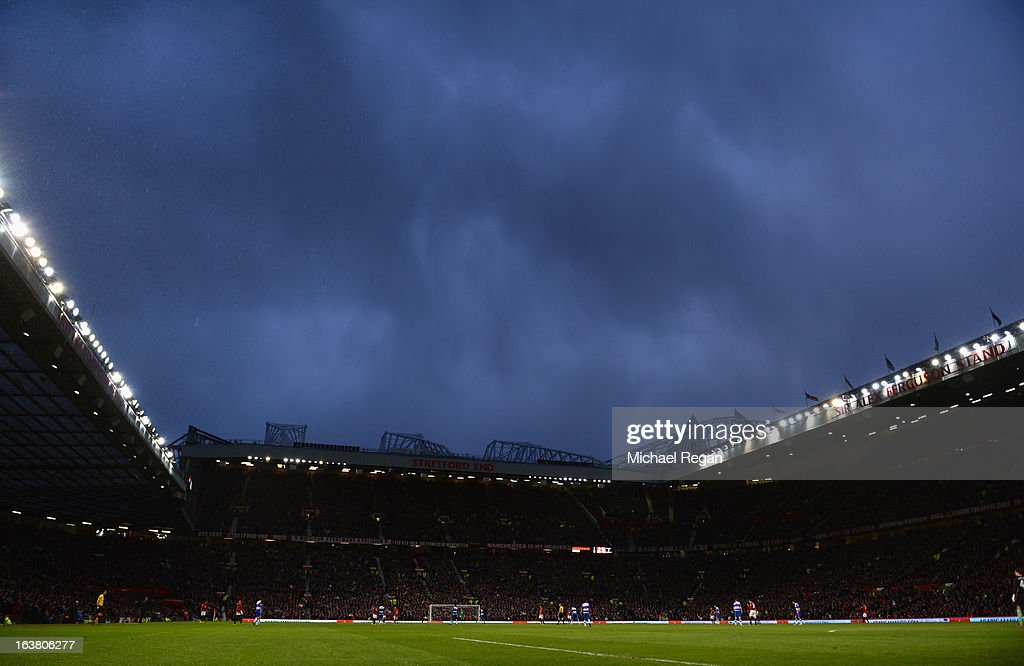 General View during the Barclays Premier League match between Manchester United and Reading at Old Trafford on March 16, 2013 in Manchester, England.