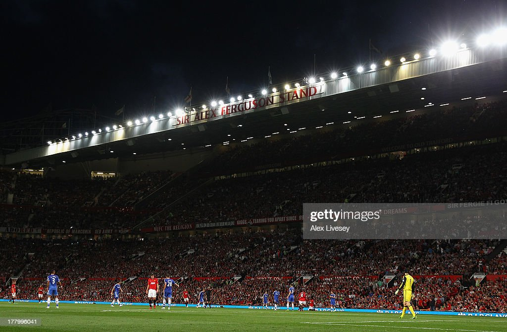 General View during the Barclays Premier League match between Manchester United and Chelsea at Old Trafford on August 26, 2013 in Manchester, England.