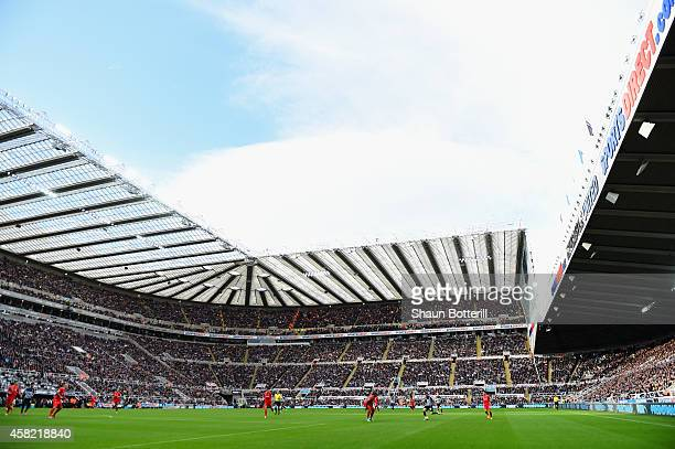 A general view during the Barclays Premier League match between Newcastle United and Liverpool at St James' Park on November 1 2014 in Newcastle upon...