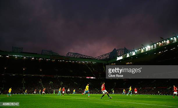 General View during the Barclays Premier League match between Manchester United and Crystal Palace at Old Trafford on November 8 2014 in Manchester...