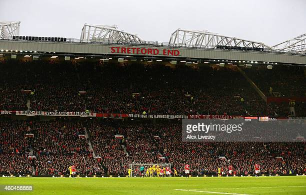 General View during the Barclays Premier League match between Manchester United and Liverpool at Old Trafford on December 14 2014 in Manchester...