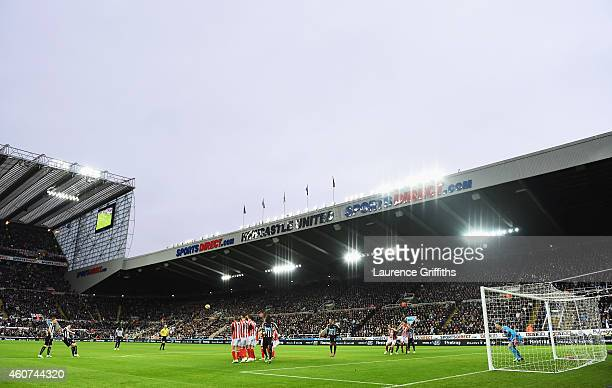 A general view during the Barclays Premier League match between Newcastle United and Sunderland at St James' Park on December 21 2014 in Newcastle...