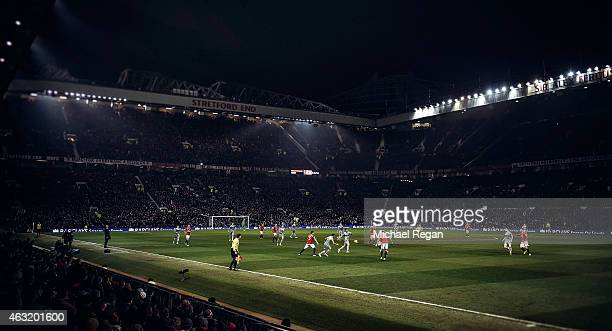 A general view during the Barclays Premier League match between Manchester United and Burnley at Old Trafford on February 11 2015 in Manchester...