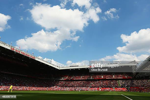 A general view during the Barclays Premier League match between Manchester United and Tottenham Hotspur at Old Trafford on August 8 2015 in...