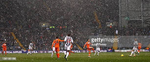 A general view during the Barclays Premier League match between West Bromwich Albion and Swansea City at The Hawthorns on February 4 2012 in West...