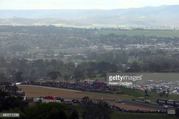 A general view during the Bathurst 1000 which is race 25 of the V8 Supercars Championship at Mount Panorama on October 11 2015 in Bathurst Australia