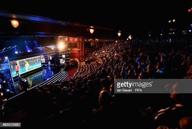 A general view during The Best FIFA Football Awards at The London Palladium on October 23 2017 in London England