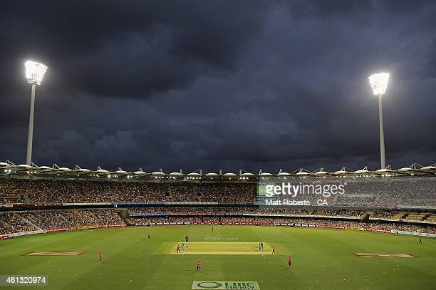 General view during the Big Bash League match between the Brisbane Heat and Sydney Sixers at The Gabba on January 11 2015 in Brisbane Australia