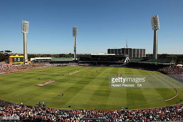 A general view during the Big Bash League match between the Perth Scorchers and the Brisbane Heat at WACA on January 8 2015 in Perth Australia