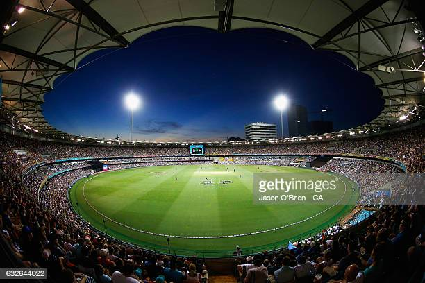 General view during the Big Bash League semi final match between the Brisbane Heat and the Sydney Sixers at the The Gabba on January 25 2017 in...