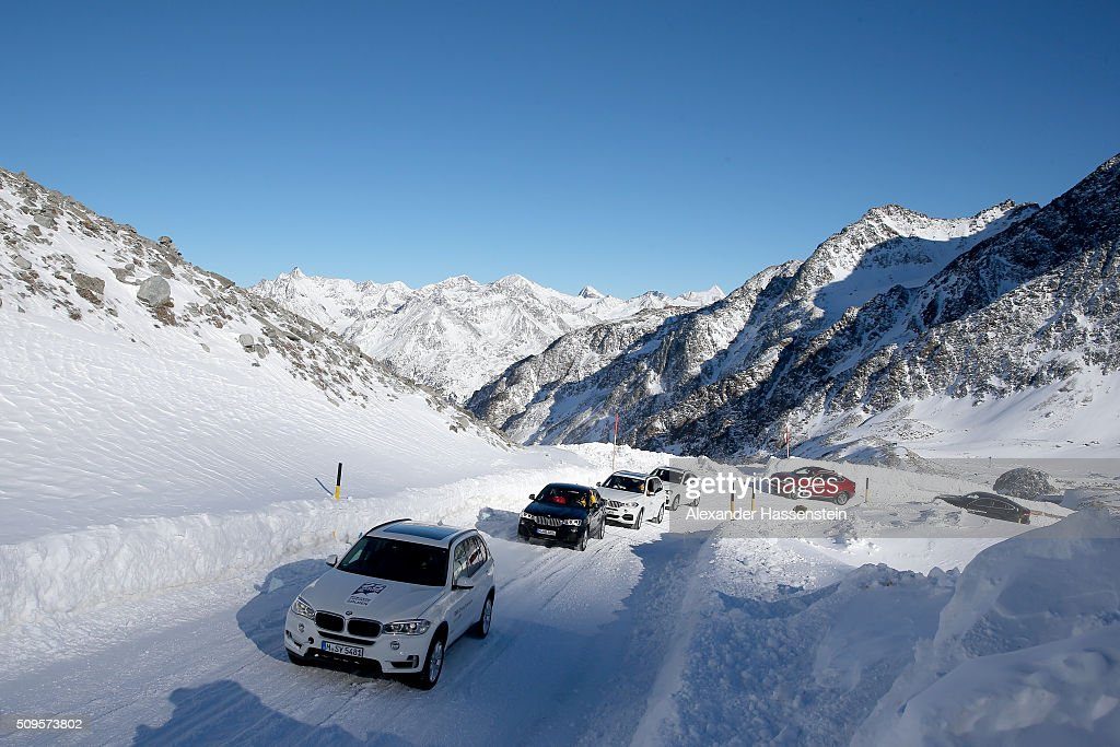 General view during the BMW Snow Driving Experience prior to the IBSF World Championship 2016 on February 11, 2016 in Soelden, Austria.