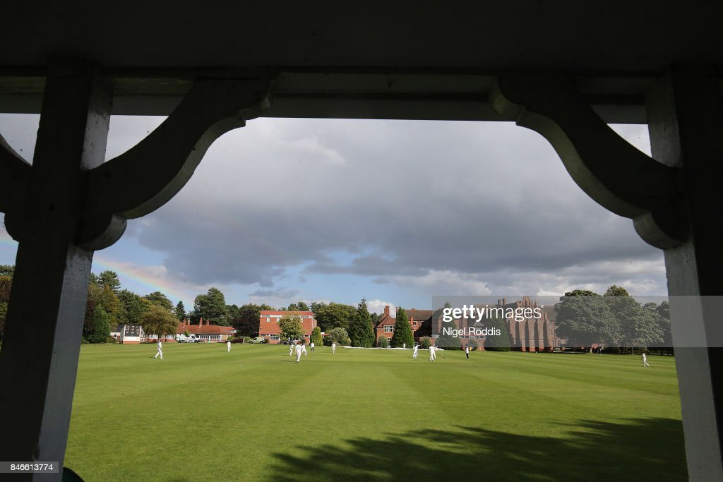 A general view during the Brut T20 Cricket match betweenTeam Jimmy and Team Joe at Worksop College on September 13, 2017 in Worksop, England.