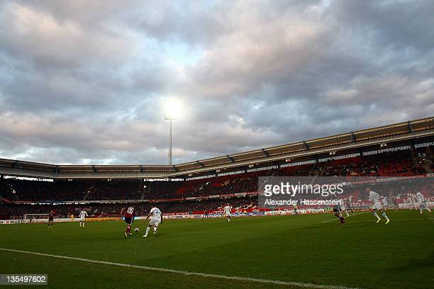 General view during the Bundesliga match between 1FC Nuernberg and TSG 1899 Hoffenheim at Easy Credit Stadium on December 10 2011 in Nuremberg Germany